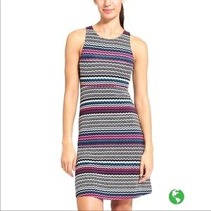 Athleta Wavy Stripe Santorini Mini Dress